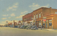 Lordsburg New Mexico * Railroad Ave. Looking East 1940s Business Area Drug Store