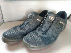 Ecco Men's Golf Shoes, Hydromax, Black & Gray W/Cage, Size 13(46) Excellent !!!