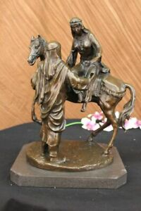 Islamic Muslim Arab WARRIOR ARABIC OTTOMAN VINTAGE 100% Solid Bronze Sculpture