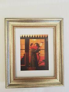 Back Where You Belong Jack Vettriano Framed Mounted Print Chunky Silver Frame
