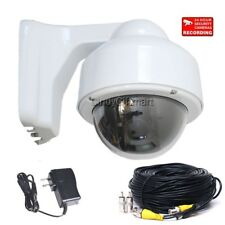 Security Camera Color CCD Outdoor Zoom Lens Dome Home CCTV Surveillance Kit CHQ