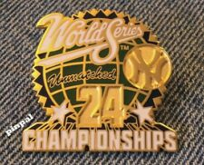 1998 Yankees Pin~Ny~24 Championships~World Series~Unmatched~by Peter David Inc.