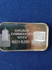 1973 Green Duck Mint Chicago Commodities Week GDM-1 Silver Art Bar P0602