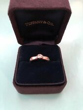 TIFFANY & Co. Platinum Etoile .24ct Solitaire Diamond Engagement Ring Size K