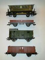 4x H0 Märklin, PICO, Personen- /Hochbord- /Niederbord- / Gepackwagen #13