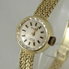 Runde mechanische - (Handaufzug) Armbanduhren aus Massivgold mit Glanz