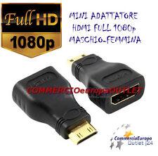 RIDUTTORE CONNETTORE ADATTATORE HDMI FEMMINA HDMI D MASCHIO MINI C FULL HD 1080