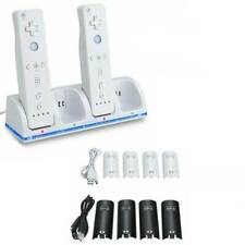 4x Battery Pack For Nintendo Wii / Wii U Remote Charger Charging Dock Station