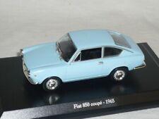 Fiat 850 Coupe Blau 1965 1/43 De Agostini Modell Auto Modellauto