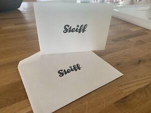 STEIFF rare Gold Tone Tie PIN Elephant Design With Original Envelope Card