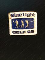 Vintage Collectible Blue Light Golf 85 Colorful Metal Pinback Lapel Pin Hat Pin
