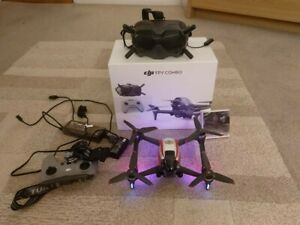 DJI FPV COMBO drone nearly new, used for less than 3 hours
