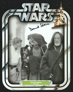 David Stone in person signed poster photo - Star Wars: A New Hope - K429
