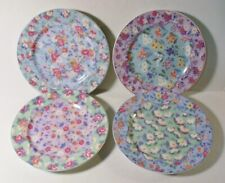 "4 Andrea by Sadek Julia Bullmore Chintz Charming 8-1/4"" Salad Plates Mint"