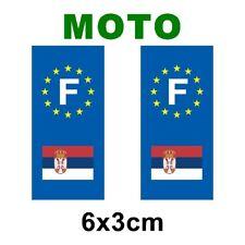 Autocollant plaque immatriculation moto drapeau serbie
