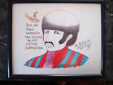 Beatles Yellow Submarine Original Art by Ron Campbell Ringo Starr Framed