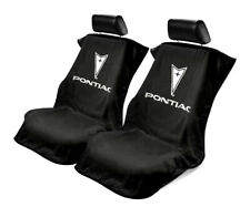 Seat Armour Universal Black Towel Front Seat Covers for Pontiac -Pair