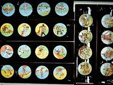 6 PLAQUES DE VERRE POUR LANTERNE MAGIQUE - VERS 1900 !! Lot N°19