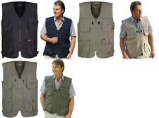 Zip Polycotton Regular Size Waistcoats for Men