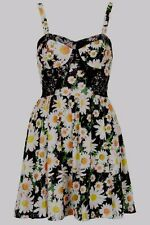 Topshop Floral Daisy Print Bralet Style Mini Summer Dress - Sizes 6 and 8