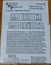 Islington Station Prodcuts #310-003A BNSF Box Car (2' Normal Logo) Decal