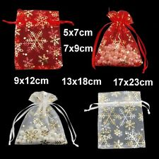 1, 10, 20, 50 or 100 Ice Organza Gift Bags / Jewellery Pouches - Various Size UK