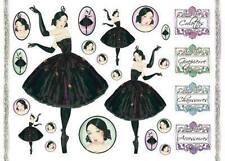 Decoupage Paper Vintage Look Ballarina Dancer