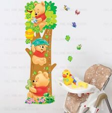 WINNIE THE POOH Height Chart Childrens Growth Measure Wall Stickers Vinyl Decal