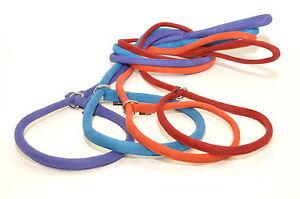 Dogline Soft Padded Comfortable Microfiber Durable Gentle Dog Slip-Lead Leash