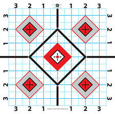 Wallace Brook 100 Yard Rifle Paper Target-Great for Sighting in Scope
