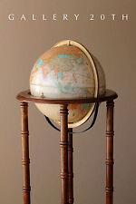 MID CENTURY ARTICULATING FLOOR GLOBE! EAMES WORLD VTG MAP LIBRARY DECOR ATOMIC