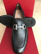 NIB Salvatore Ferragamo Shepard Black Loafers 12EE