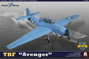 "Flight Wings 1/18 TBF Avenger, "" Battle of Midway"" Squadron VT-8, 1942 (FW003A)"
