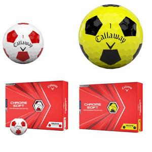 Callaway Chrome Soft TRUVIS Golf Balls in White/Red or Yellow/Black  Doz pk