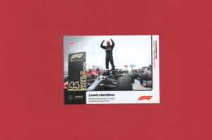 Topps NOW Formula 1 (F1) 2020 - #013 Lewis Hamilton - Record Equalling 7th Title