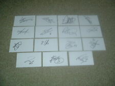 More details for cardiff city - set of 15 hand signed 19/20 season 5 x 3 white cards