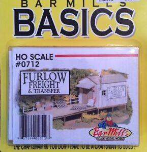 BAR MILLS 712 HO Furlow Freight - Laser Cut Craftsman Kit MODELRRSUPPLY $5 Offer