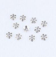 Wholesale 8x2mm Flower Bead Caps End Bead Jewelry Findings Tibetan Silver
