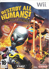 DESTROY ALL HUMANS BIG WILLY UNLEASHED for Nintendo Wii - complete - PAL