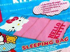 Hello Kitty Sanrio Polka Dot Girls Sleeping Bag Travel Zip Comforter Nap 28x56