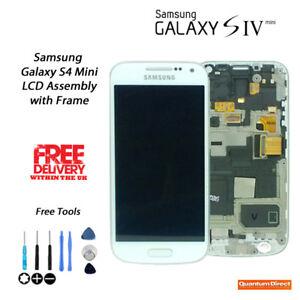 NEW OEM Samsung Galaxy S4 Mini GT-i9195 LCD & Digitiser Assembly w/Frame WHITE