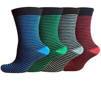 6 Pairs Men's Colorful Printed Cotton Socks Moisture Extra Comfortable