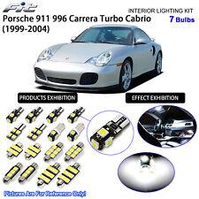 7 Bulbs Xenon White LED Interior Light Kit Porsche 911 996 Carrera Turbo Cabrio