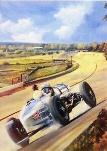 Napier Railton John Cobb 143.44mph lap Record at Brooklands Banking 1935  G Card