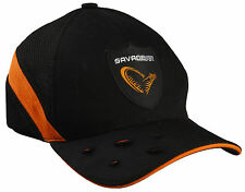 SAVAGE GEAR EVIL BASEBALL CAP VENTILATED BLACK/ORANGE PIKE PREDATOR FISHING HAT