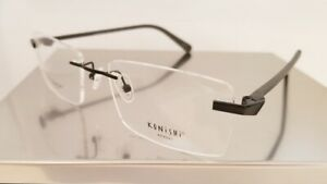 KONISHI KF 8580 Flex-Titanium eyeglasses Frame C1 Black MEN RIMLESS 55mm