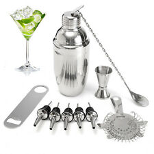 10Pcs Cocktail Shaker Set With Mixer Jigger Bar Drink Bartender Tool Accessories
