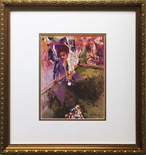 "LeRoy Neiman ""Black Break"" Newly Custom FRAMED ART PRINT Billiards Pool Hall"