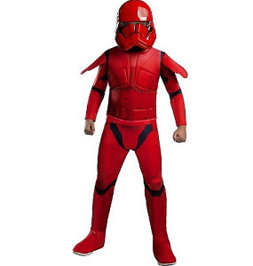 Star Wars Sith Trooper Child Halloween Costume Red Jumpsuit with Mask Medium