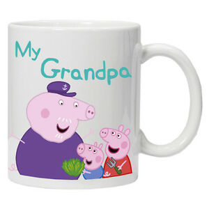 Personalised Fathers Day mug/cup Grandpa Pig Pepper Pig Perfect Gift